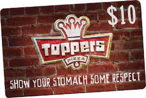 $10 GiftKash @ Toppers