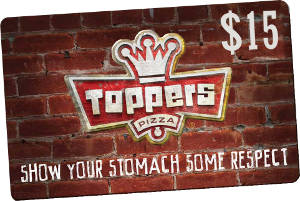 $15 GiftKash @ Toppers