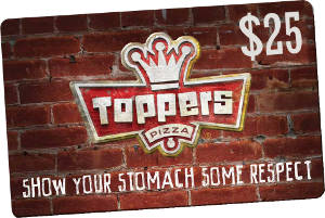 $25 GiftKash @ Toppers