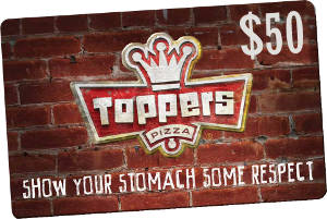 $50 GiftKash @ Toppers